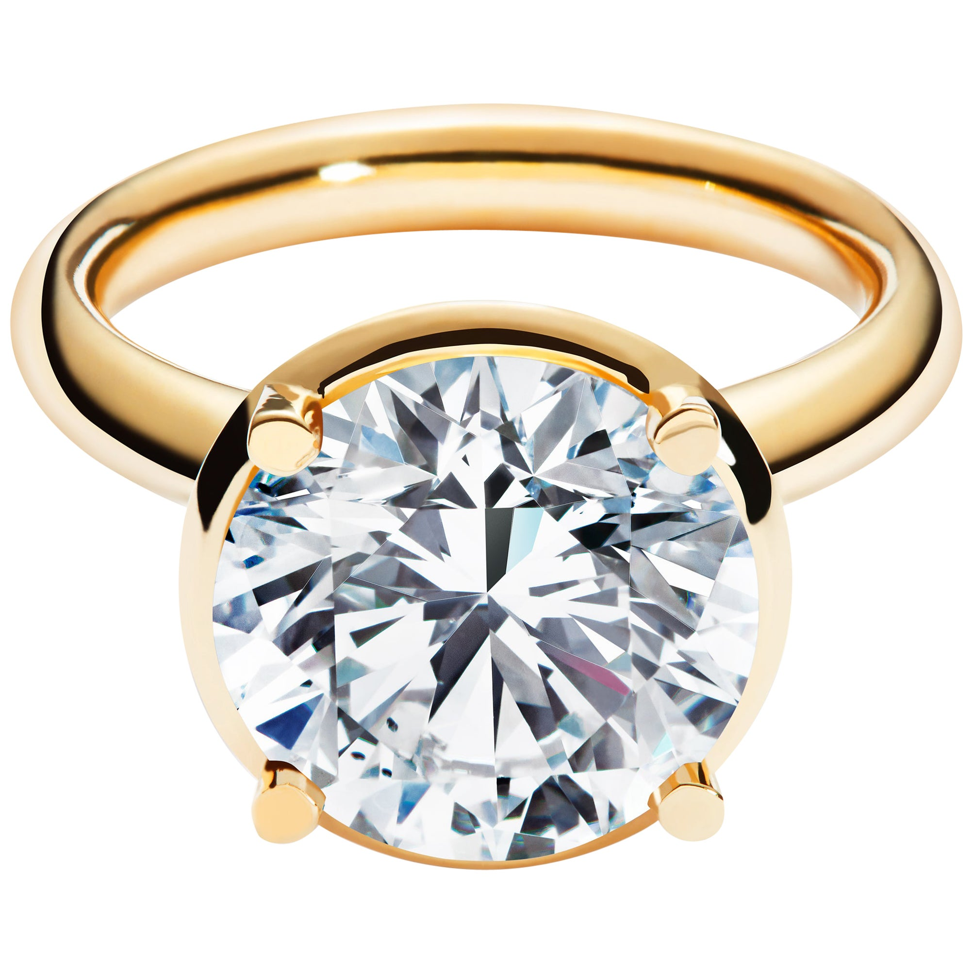 5ct Solitaire Traceable Diamond Ring In 18 Karat Yellow Gold By Rocks For Life