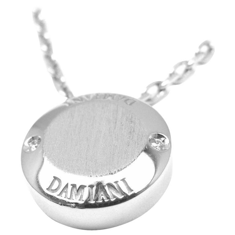 Damiani BLASONI Diamond White Gold Pendant Necklace For Sale