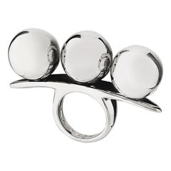 "Betony Vernon ""Three Sphere Massage Ring"" Ring Sterling Silver 925"