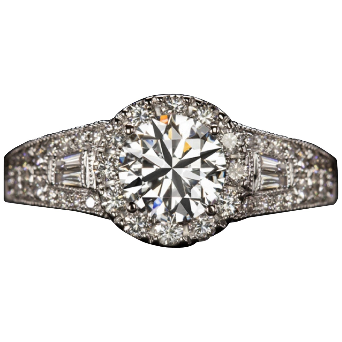 GIA Certified 2 Carat Round Brilliant Cut Diamond Triple Excellent Ring
