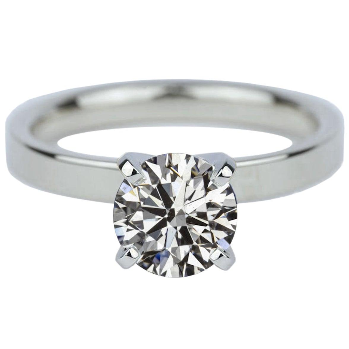 GIA Certified 1 Carat Round Brilliant Cut Diamond