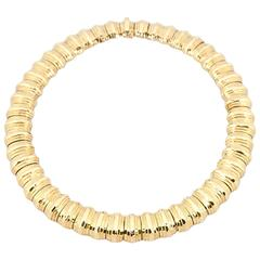 gold domed faceted collar