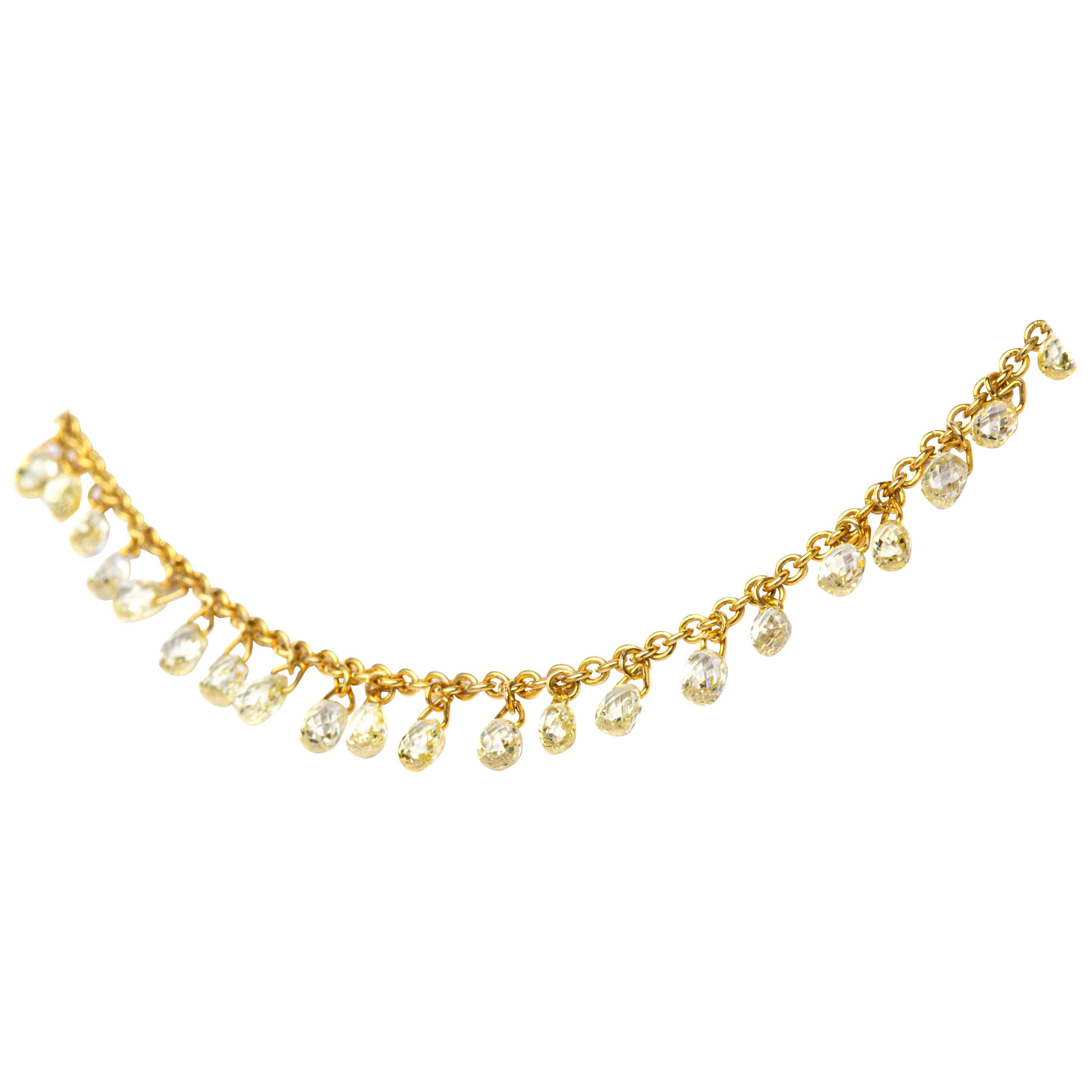 Jona Yellow Diamond 18 Karat Yellow Gold Necklace