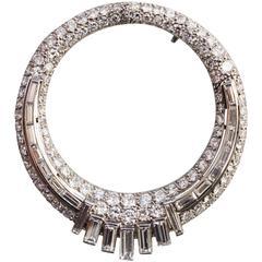 Boucheron Paris Art Deco Diamond Platinum Brooch