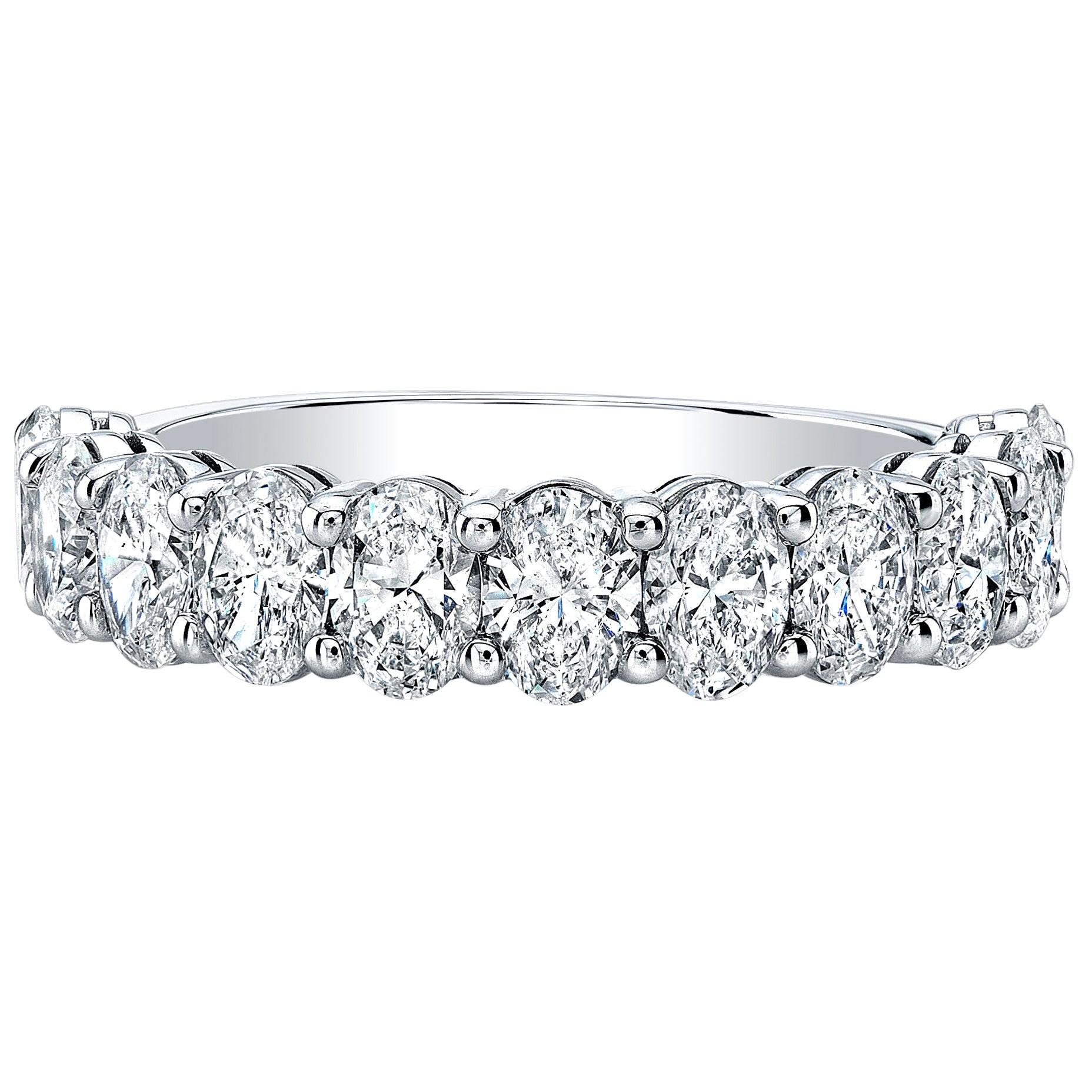 Oval Cut Diamonds Eternity Band