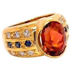 Gemjunky Golden Brown Tourmaline and 18 Karat Gold Ring