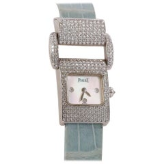 Piaget Ladies White Gold and Diamond Miss Protocole Wristwatch circa 2000