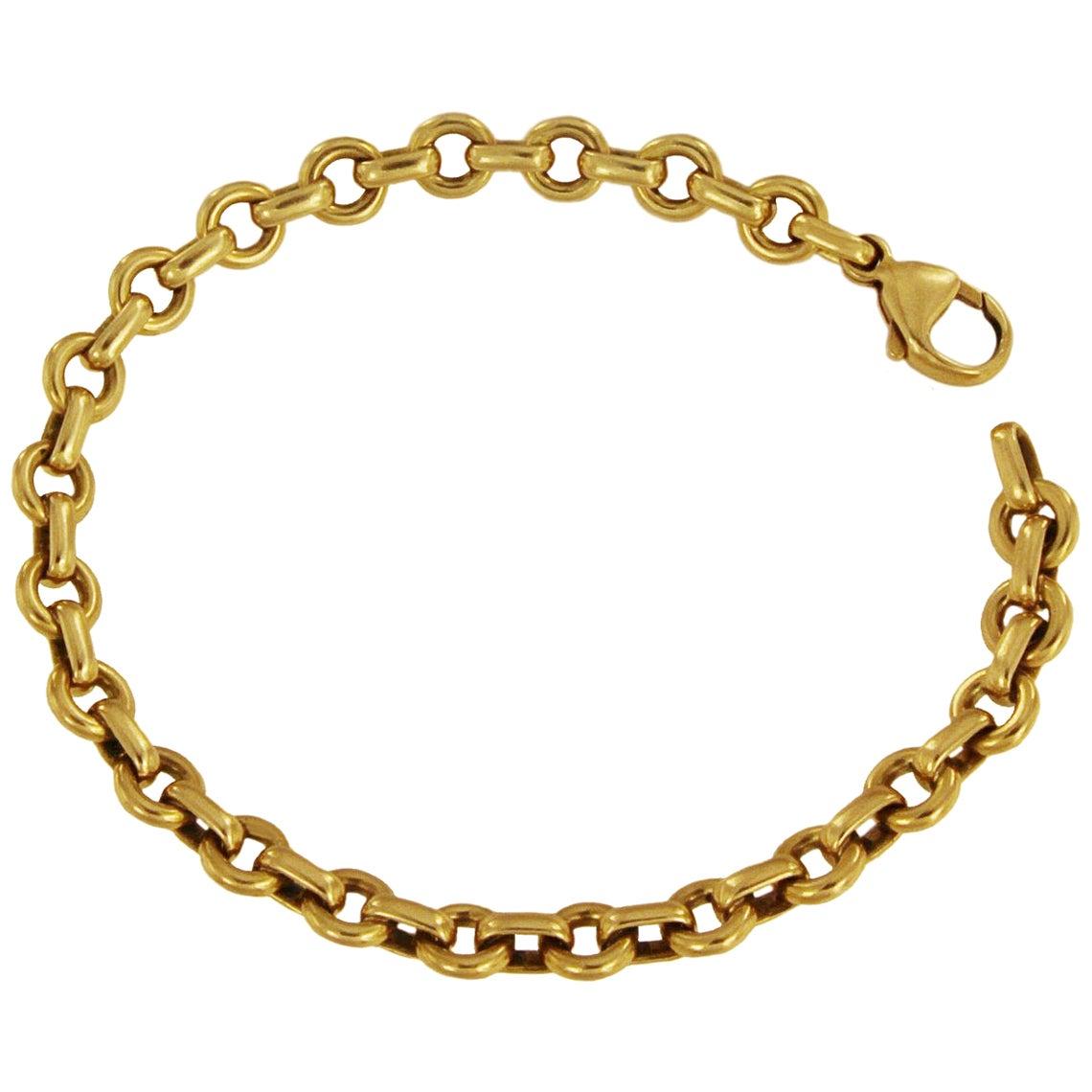 Tiffany & Co. 18 Karat Yellow Gold Round Chain Link Bracelet