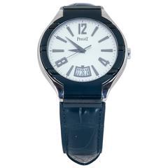 Piaget white gold black dial Polo Wristwatch Ref GA3140