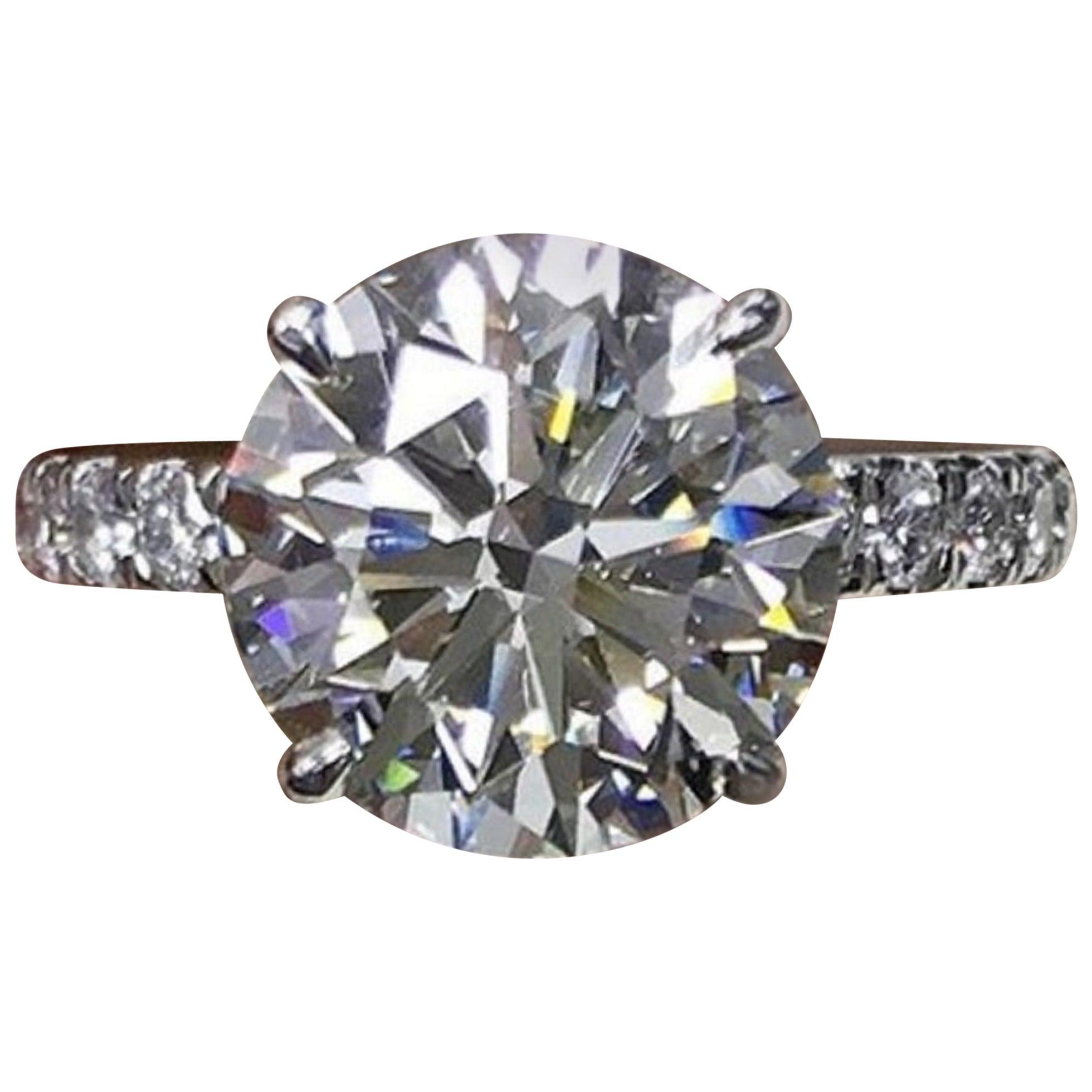 GIA Certified 10.80 Carat Round Brilliant Cut Diamond Ring