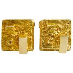 Eino Westerback Gold Modernist Cufflinks