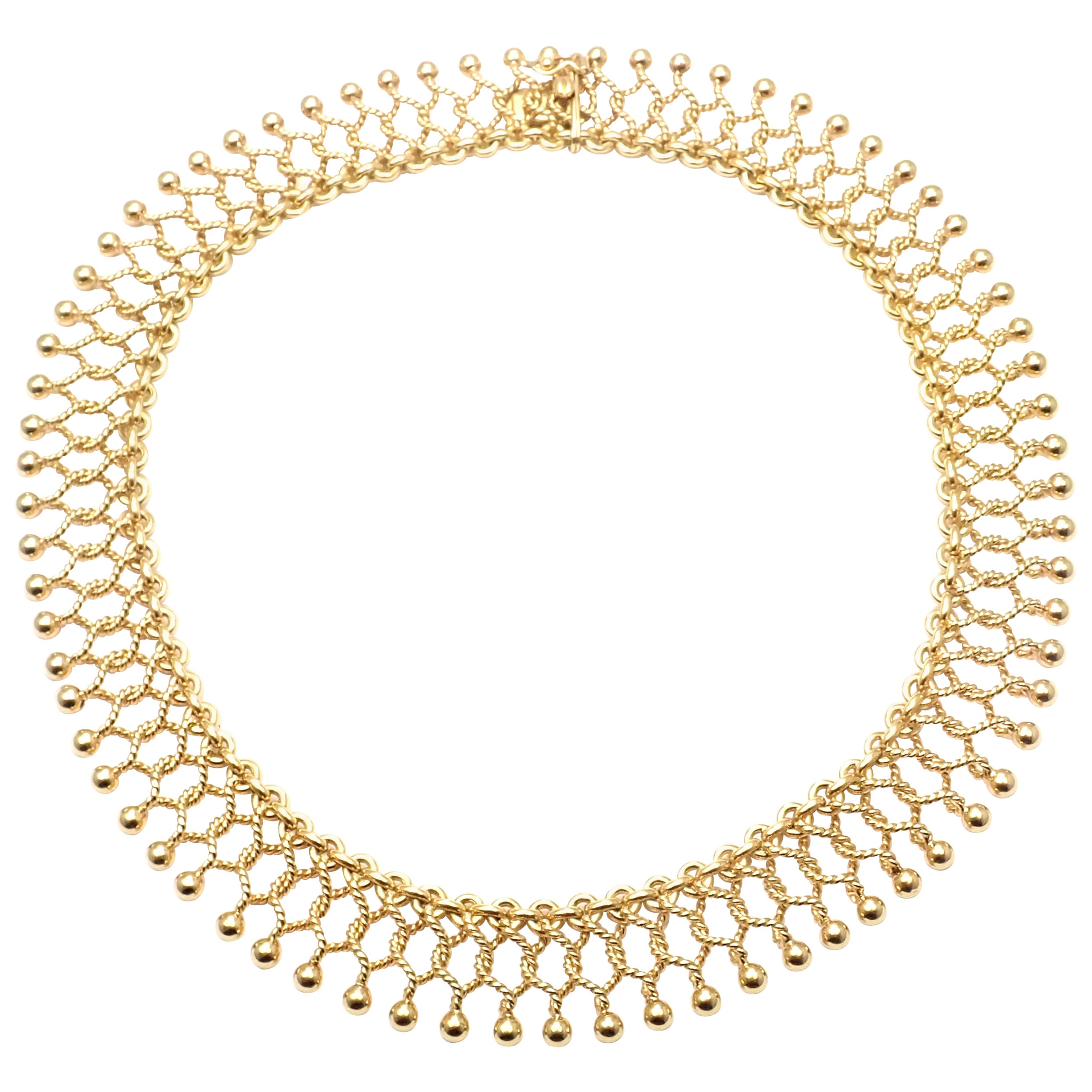 Vintage Tiffany & Co. Cleopatra Collar Yellow Gold Link Necklace