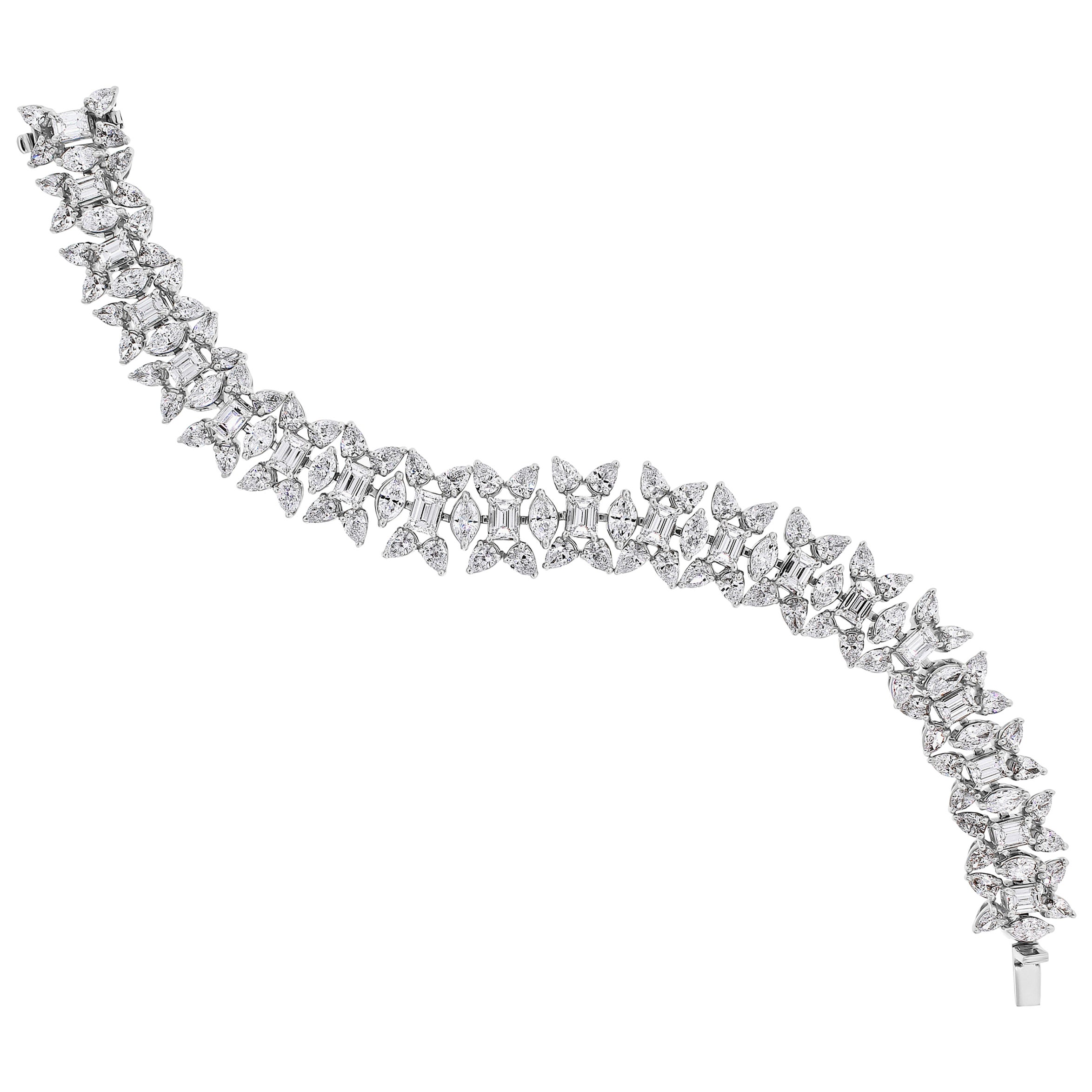 Beauvince Misha Diamond Bracelet in Platinum