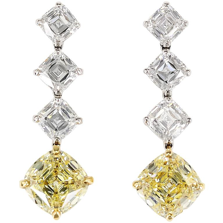 IMPORTANT TIFFANY & CO. Legacy Fancy Yellow Diamond Drop Earrings 1
