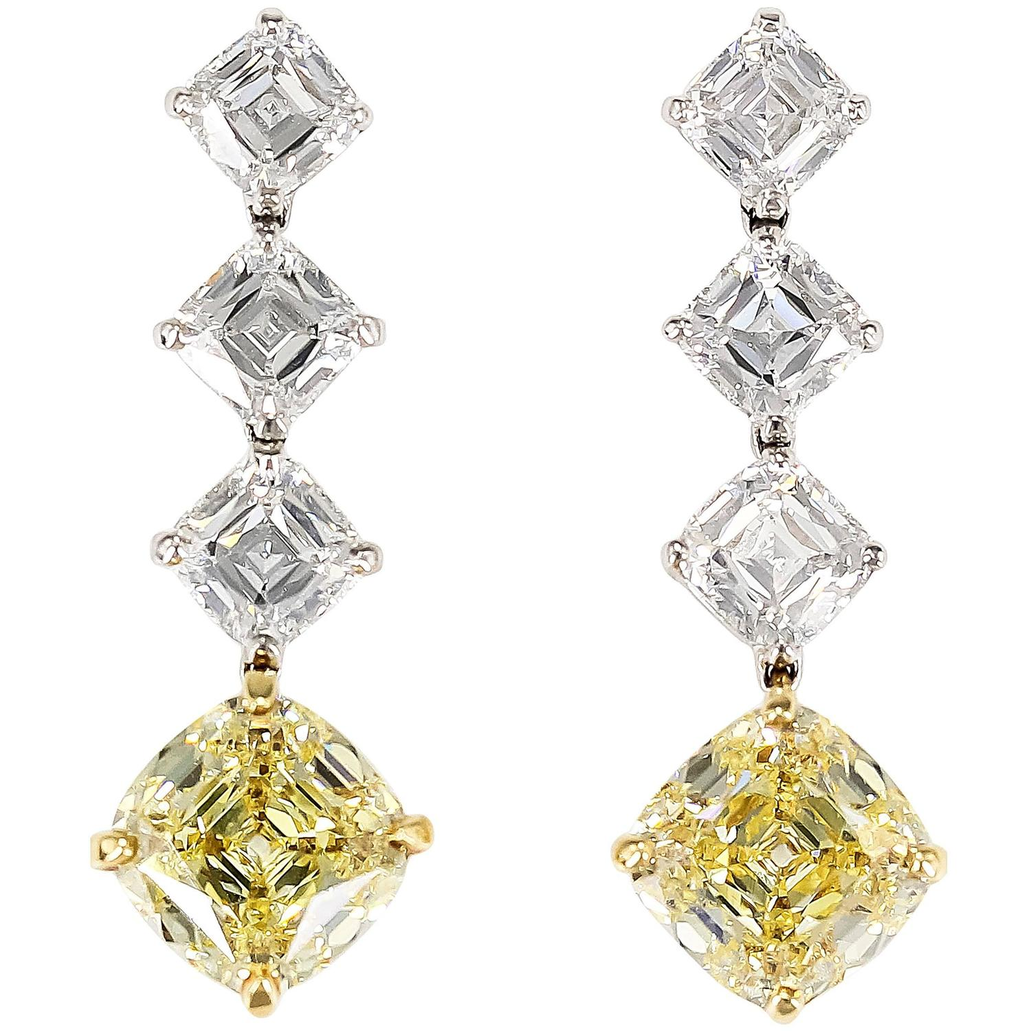 important tiffany and co legacy fancy yellow diamond drop