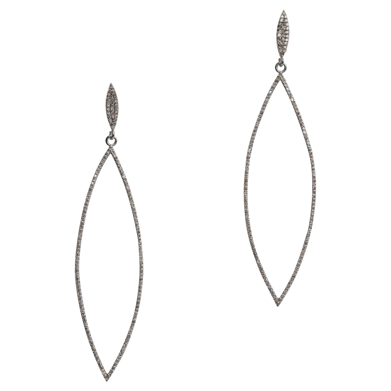 Long Diamond Dangle Chandelier Earrings