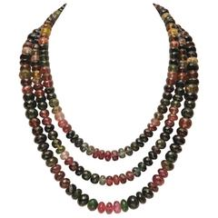 Deborah Lockhart Phillips Triple Strand Faceted Tourmaline Necklace
