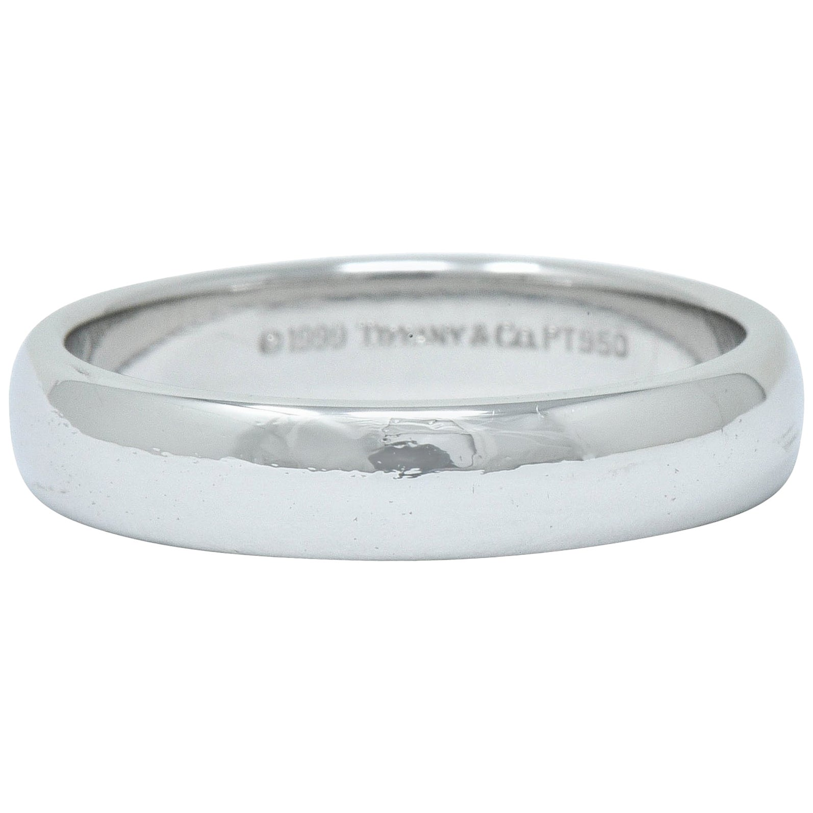 Tiffany & Co. Platinum Men's Wedding Band Ring