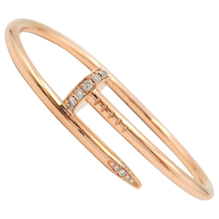 Cartier rose-gold and diamond Juste un Clou bracelet, 2010s, offered by Circa