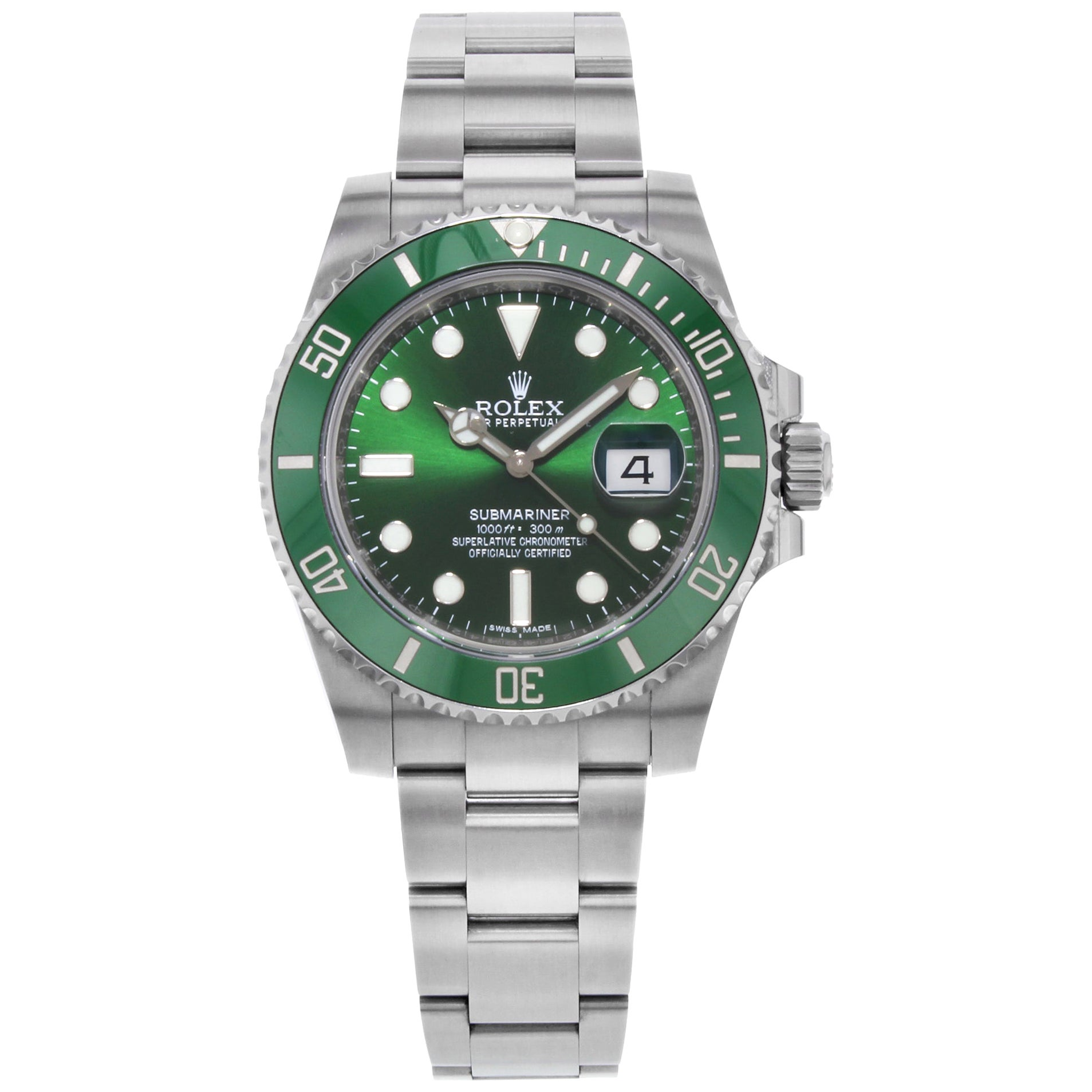Rolex Submariner Hulk Green Steel Ceramic Automatic Men's Watch 116610LV