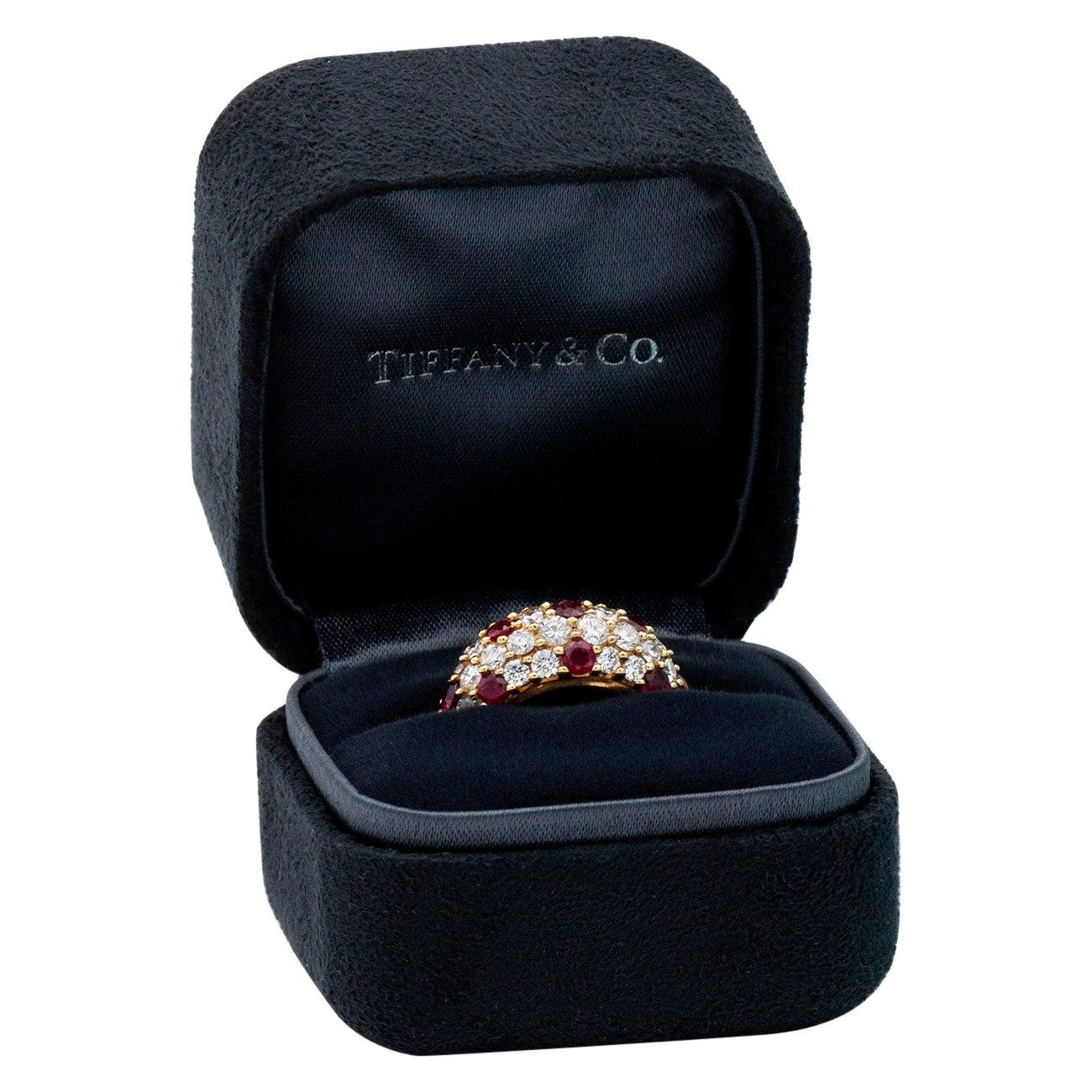 "Tiffany & Co. Ruby and Diamond ""Polka Dot"" Ring"