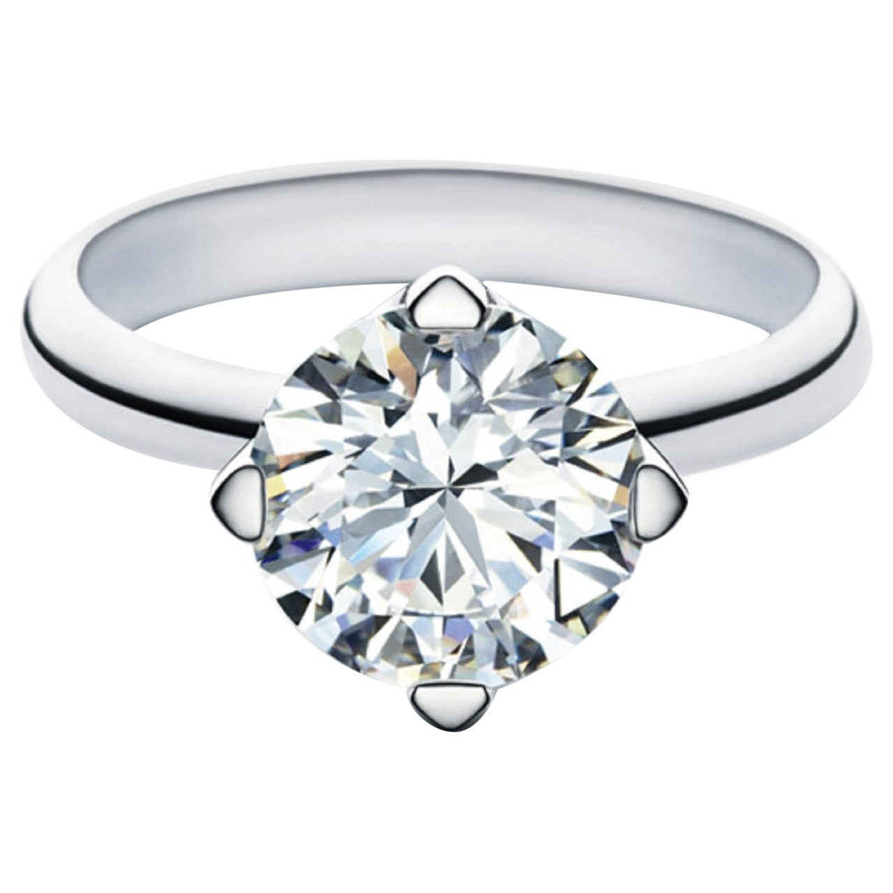 GIA Certified 2 Carat Round Brilliant Cut Diamond Ring VVS2