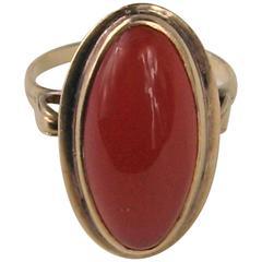 Sterling Modernist Ring Round Brilliant Cut Amethyst