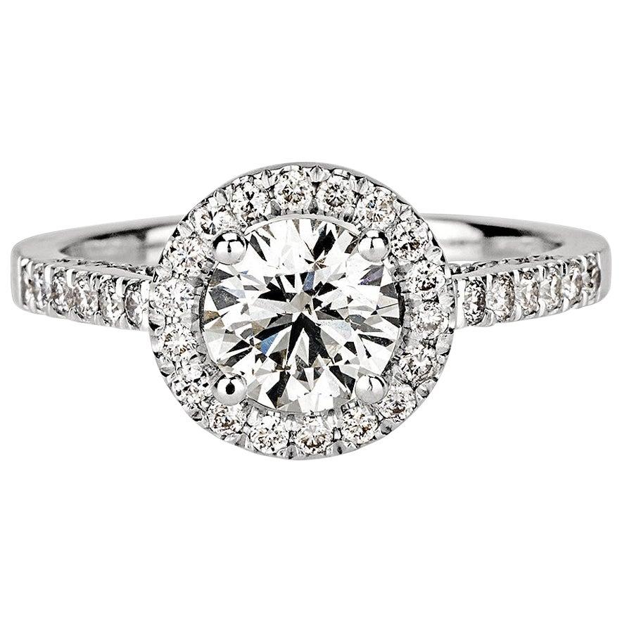 Shlomit Rogel, 1.62 Carat EGL Certified Diamond Ring in 18 Karat White Gold