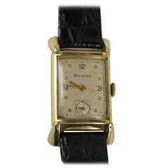 1940s Vintage Gold Bulova Tank Watch