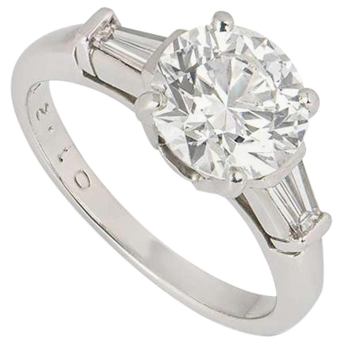 Tiffany & Co. Three-Stone Engagement Ring 2.10 Carat E/VS1