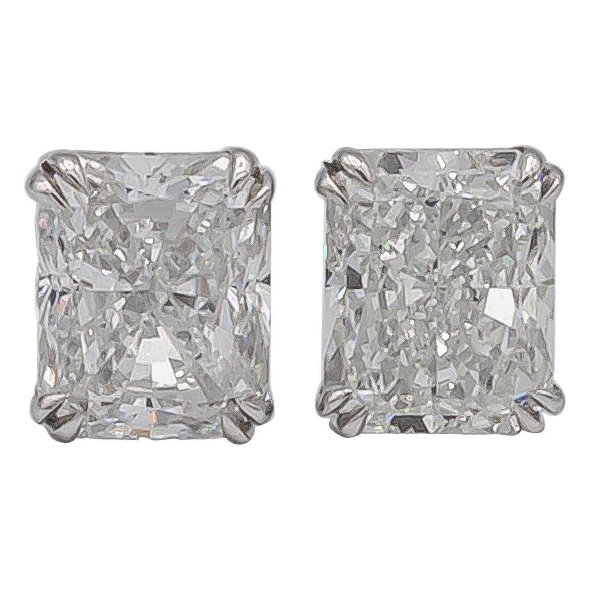 GIA Certified Diamond Stud Earrings 1 Carat Each
