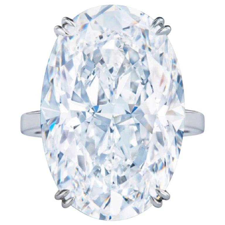 GIA Certified 5.53 Carat Oval Diamond Ring