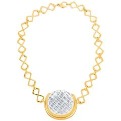 Aldo Cipullo Crystal and Gold Necklace