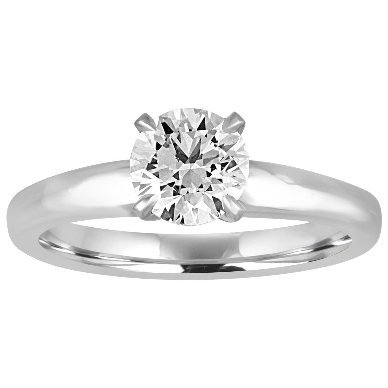 GIA Certified 1.03 Carat F VVS2 Round Diamond Platinum Engagement Ring