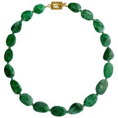 Maw Sit Sit Columbian Emerald Choker Necklace