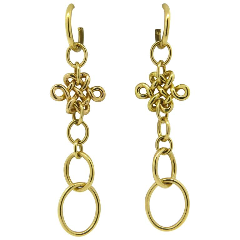 hstern earrings h diane furstenberg gold drop earrings at 8917