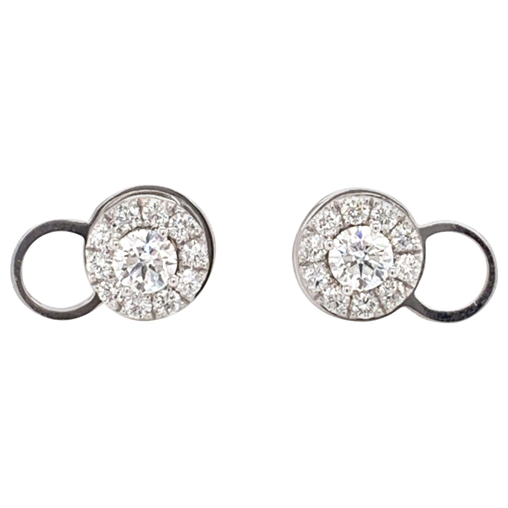 Convertible Stud/Halo Diamond Earrings