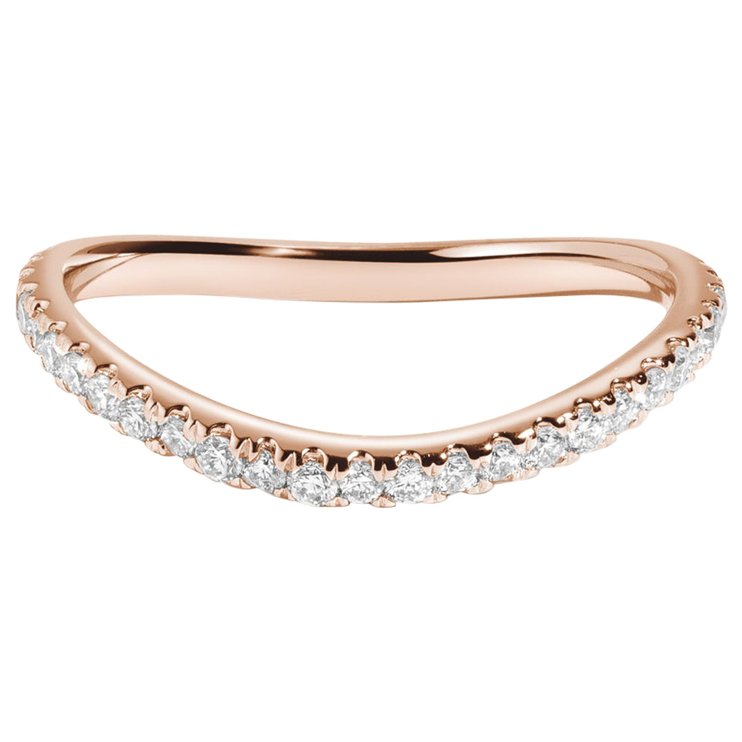 Bossa Nova Diamond Eternity Band in 14 Karat Rose Gold by Selin Kent