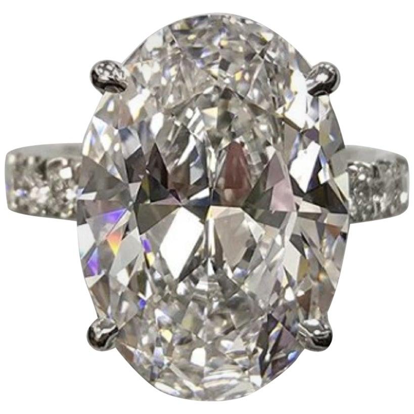 GIA Certified 2 Oval Diamond Ring Triple Excellent Cut D Color VVS1