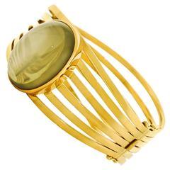 Christoph Sperl 55 Carat Moonstone Ultra-Modern Gold Bracelet