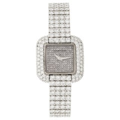 Cartier Ladies White Gold Pave Diamond Manual Wristwatch