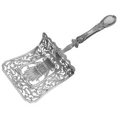 Puiforcat Fabulous French All Sterling Silver Asparagus/Pastry/Toast Server Rose