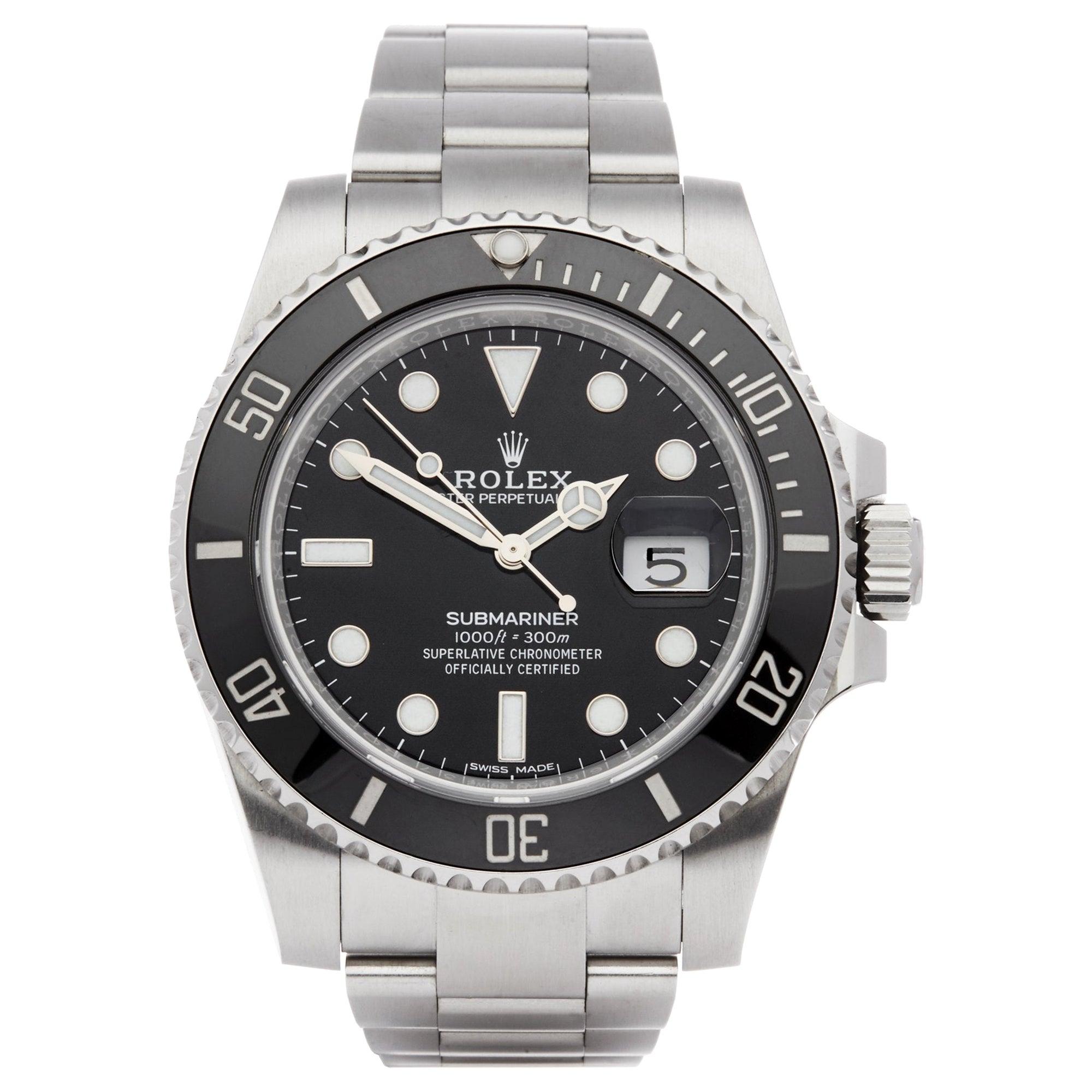 Rolex Submariner Date 116610LN Men's Stainless Steel Watch