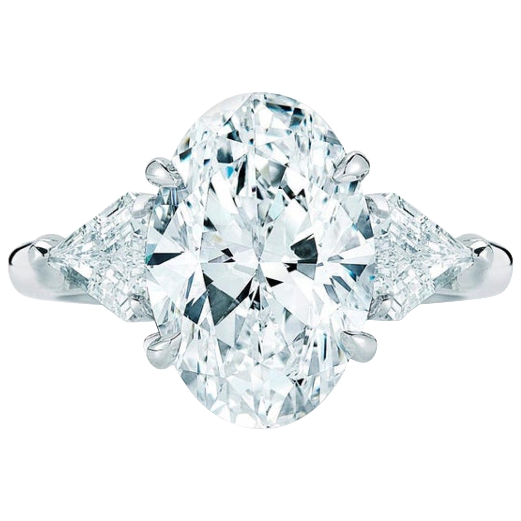 GIA Certified 2.50 Carat Oval Diamond Ring I Color VVS1 Clarity Platinum Ring