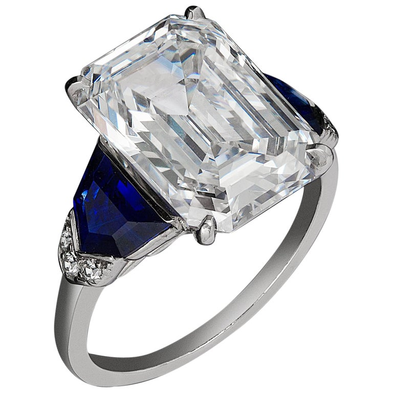 Diamond and Sapphire Ring by Raymond C Yard
