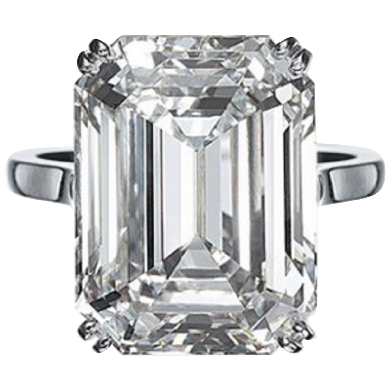 GIA Certified 6.03 Carat Emerald Cut Diamond Ring VVS1 Clarity