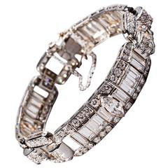 1940s Diamond Bracelet in White Gold