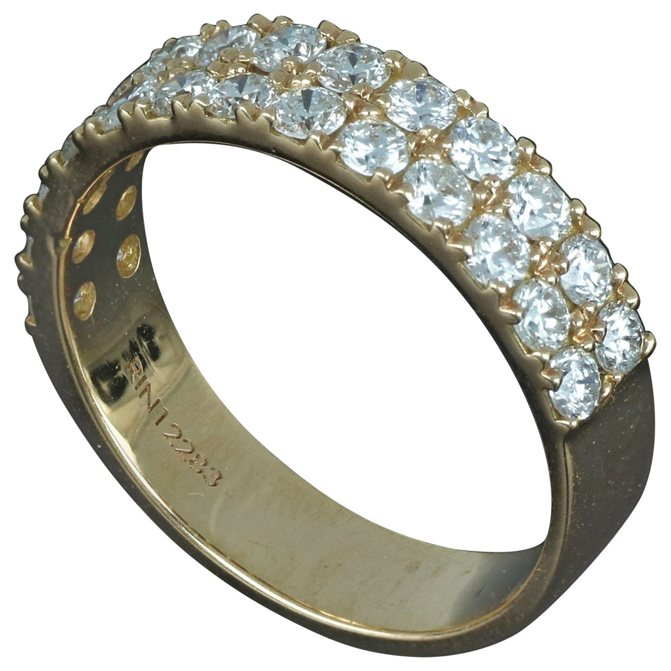 Amwaj Jewellery 18 Karat Rose Gold Ring with Round Diamond