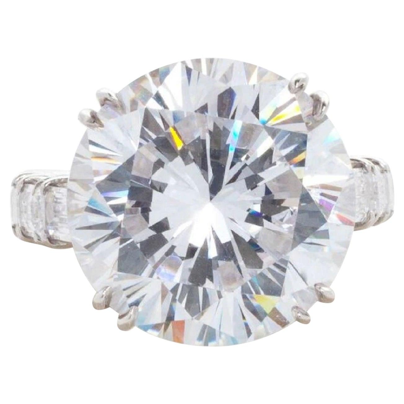 GIA Certified 10.02 Carat Round Brilliant Cut Diamond Ring