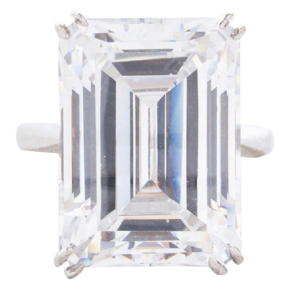 GIA Certified 7 Carat Emerald Cut Diamond Ring F Color VS2